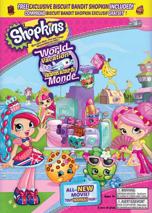 Shopkins World Vacation DVD 2017 Canadian