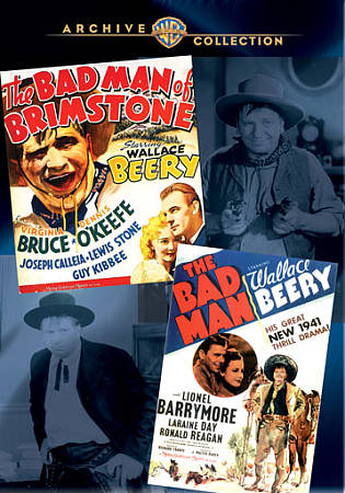 WALLACE BEERY DOUBLE FEATURE: THE BAD MAN OF BRIMSTONE/THE BAD MAN NEW REGION 1